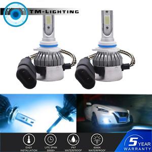 Pair 72W 9006 HB4 8000K LED Low Beam Headlight Kit For Honda Civic 2004-2013