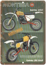 "Montesa Cappra 125VF Moto-Cross Vintage Ad 10"" x 7"" Reproduction Metal Sign A376"