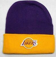 READ LISTING! Los Angeles Lakers HEAT Applied Flat Logo on Beanie Knit Cap hat