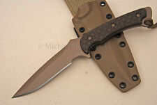 Spartan Blades Ares Knife - FDE w/ Green G10 - Tan Kydex sheath