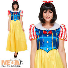 Snow White Ladies Fancy Dress Fairytale Princess Adult Womens Storybook Costume