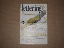 Speedball Lettering & Drawing D-3 Tips Ink Pens Brochure Manual Form 300