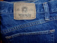 WRANGLER RELAXED FIT JEANS 33X34 PRISTINE IN HEAVY DENIM (#9760WDR)