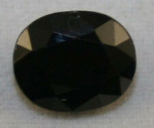NATURAL BLACK SAPPHIRE GEMSTONE 7X8.5 LOOSE FACETED OVAL 2.35CT GEM AAA SA49