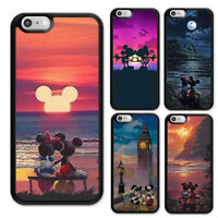 iPhone 5 5S 5C 6 6S 7 8 X Plus Disney Mickey and Minnie Rubber Case for Apple