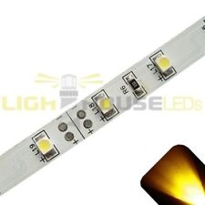 Yellow/Gold - PLCC2/3528 12V LED Strip - Adhesive Backing - 5m Roll / Reel