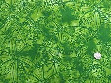 Melody Large Butterflies Emerald green fabric fq 50x56 cm 100% Cotton F 5620 N
