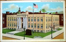 1942 Postcard: Municipal Building - Elwood/Ellwood City, Pennsylvania PA
