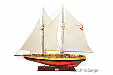"XL Canadian Bluenose II Schooner Wooden Sailing Ship Model 100"" Sailboat New"