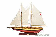 "XL Canadian Bluenose II Schooner Wooden Sailing Ship Model 100"" Sailboat New"