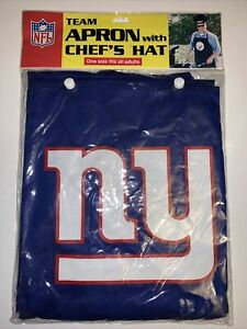 New York Giants  BBQ Apron With Chef Hat Combo NFL NY Logo Official Licensed