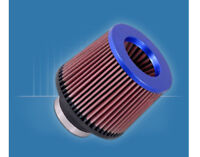 """K&N Air Filter RR-3002 Clamp On Pipe 3"""" (76mm) Universal Pod Inverted Blue Top"""