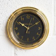 22cm Round Gold & Black Wall Clock Kitchen Decor Quartz Modern Office Bedroom