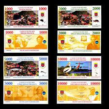 ★★ ILE DE SAINT BARTHELEMY : COLLECTION DE 4 BILLETS : 1000 A 10000 FRANCS ★★