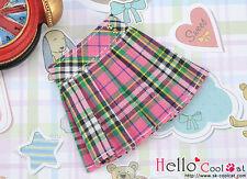 ☆╮Cool Cat╭☆38.【PE-03】Blythe/Pullip Accordion Mini Short Skirt # Stripe Pink