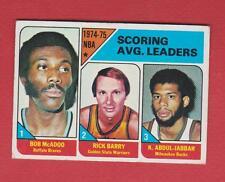 Original 1975-76 Topps NBA Scoring Ldrs of 1974-75 - McAdoo,Barry,Abdul-Jabbar