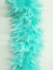 Aqua Feather Boa heavy weight Chandelle  .