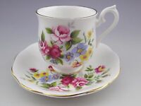 Vintage Royal Albert England Flowers Teacup And Saucer