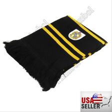 Harry Potter Hufflepuff Thicken Wool Knit Scarf Wrap Warm Costume Xmas New Gift