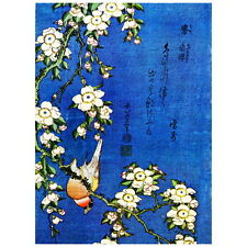 Bullfinch and Weeping Cherry Blossoms by Hokusai Deco FRIDGE MAGNET Japanese Art