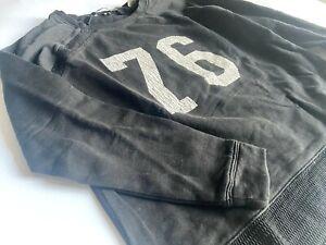 MAISON SCOTCH Schwarzes Sweatshirt mit Netzstoff Gr.P'tite 36