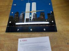 3dRose DPP 154708_2 New York City Evening Skyline Featuring Twin Towers Clock 13