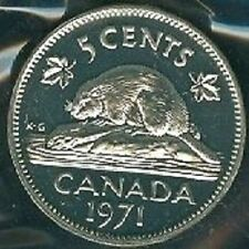 1971-PL Proof-Like Nickel 5 Five Cent '71 Canada/Canadian BU Coin Un-Circulated