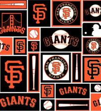 San Francisco Giants Squares MLB Baseball Sports Cotton Fabric Print by the Yard