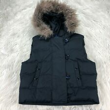 Gap Women's M Black Down Filled Hooded Puffer Vest