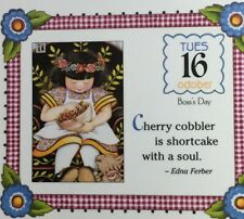 Mary Engelbreit Handmade Magnet-Cherry Cobbler Is Shortcake With A Soul