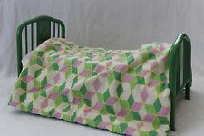 American Girl Doll Kit Kittredge Metal Trundle Bed Mattress Quilt Bedding