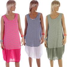 Gestreifte Größe 42 Damenkleider für die Freizeit