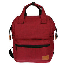 Ladies Canvas Backpack Tablet Laptop Compartment Bag Nylon Nappy Red