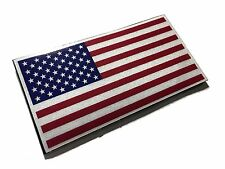 """The Reflective Full Color American Flag 3.5 x 2"""" Uniform Morale Patch -hook/loop"""