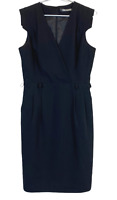 Basque City Womens Black Cap Sleeve Business Corporate Lined Dress Size 10