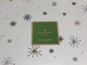 Kate Spade New York - Starburst Placemats - Set of 4 - NWT