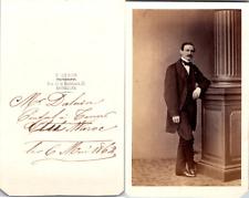 Deron, Bruxelles, Homme nommé M. Daluin, consul belge à Tanger Vintage CDV album