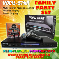 VOCAL-STAR VS-600 BLACK KARAOKE MACHINE PLAYER 2 MICROPHONES 150 SONGS A