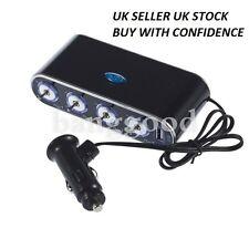 4 Way Car Cigarette Lighter Socket Splitter Charger 12V/24V. UK SELLER