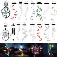 Solar Powered Wind Chime Light LED Garden Yard Hanging Spinner Lamp Decoration
