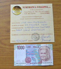 LIRE 1000 MONTESSORI 1990 certificata SUPERBA SERIE XA A SOSTITUTIVA RARA