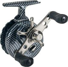Eagle Claw Inline Reel For Ice Fishing Colors are Carbon, Black and White Ecilir