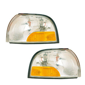Signal Side Marker Lights Pair Set for 99-02 Mercury Villager/99-00 Nissan Quest