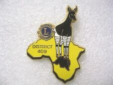 Lions Club Pin District 409 Made in France Duseaux International Vintage