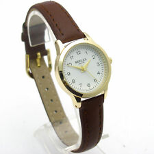 Faux Leather Band Women's Polished Analogue Wristwatches