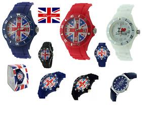 London Uhren Unisex Mode union jack Uhren 12 Monaten Garantie