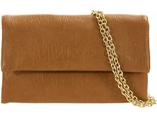 Faux Leather Clutch Bag Foldover Envelope Purse Design Card Slots Zipper Folded