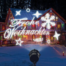 LED Laser licht Projektor Garten weihnachts beleuchtung deko lichterkette weiß ❗