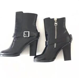 BCBGirls Ankle Boots Size 8.5 BG-Herry Zip Up Casual Black Round Toe New
