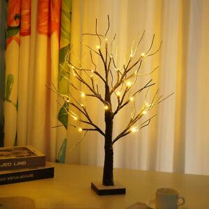 Halloween Christmas 60cm Pre-Lit Snowy Twig Tree Light Up Decoration Easter Tree